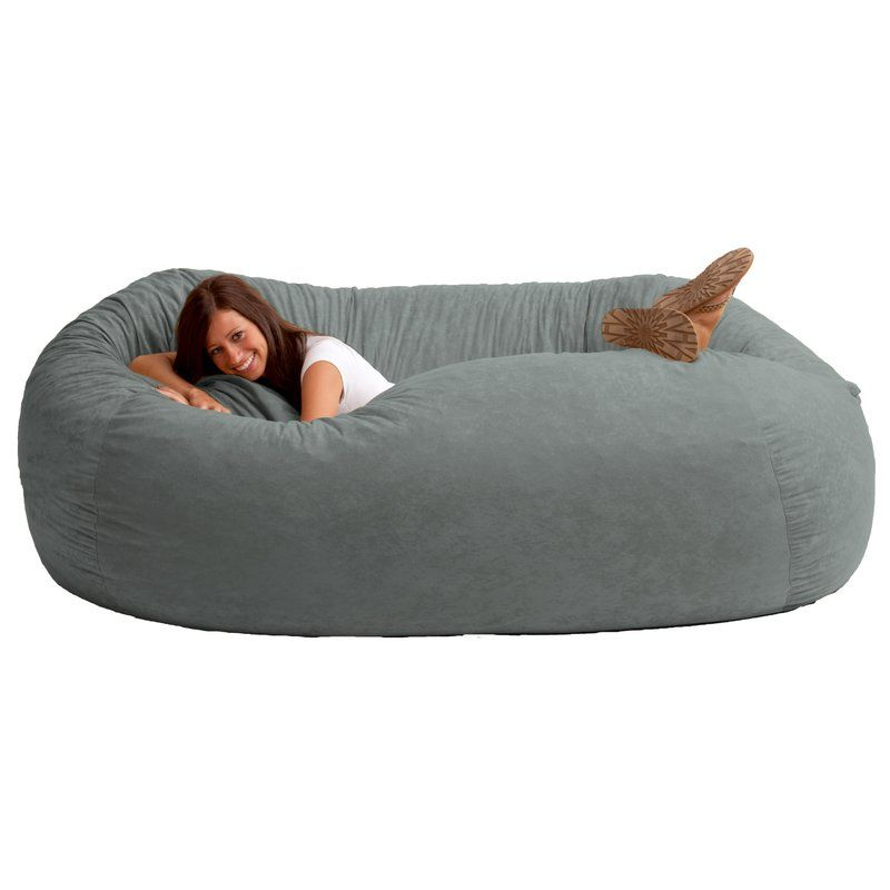 Unwind and relax with this fuf foam filled sofa the soft suede xxl comfort suede bean bag sofa cuddle up in the original fuf chair 7 ft xxl comfort suede bean bag sofa with a friend for unmatched comfort solutioingenieria Image collections