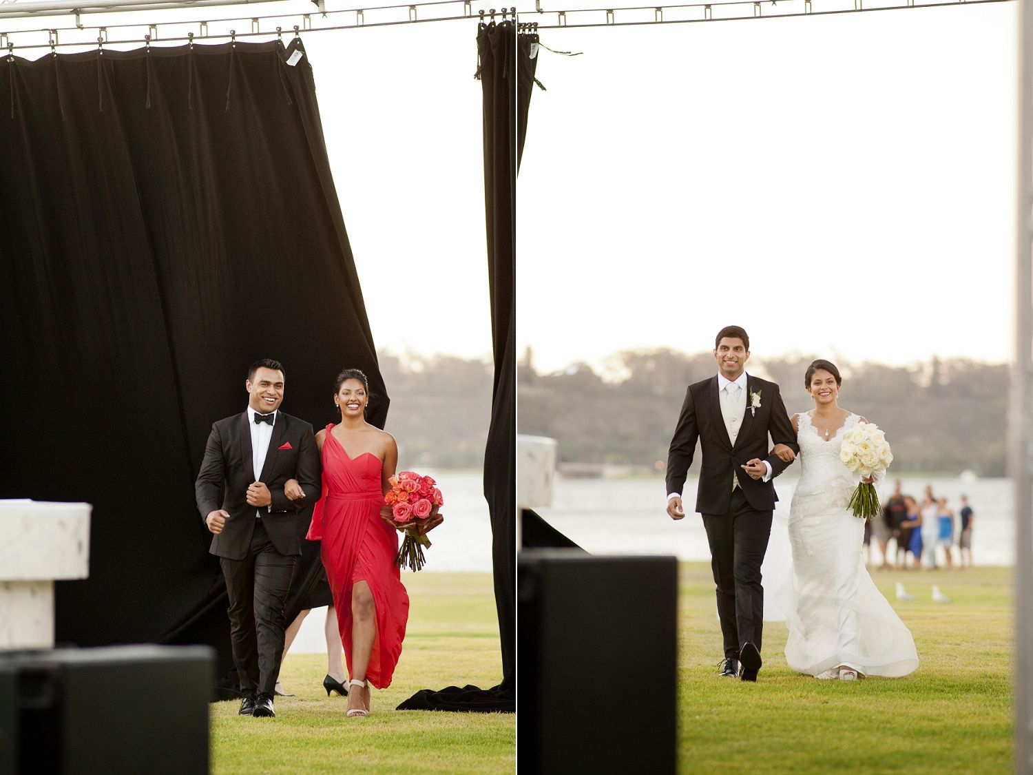 Outdoors Marquee Wedding Reception Swan River South Perth