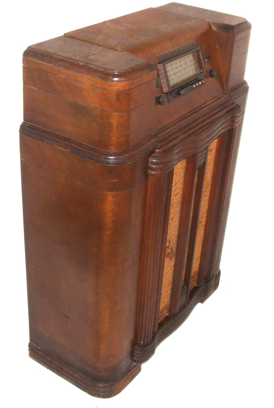 Sears Silvertone Wood Cased Floor Model Tube Radio