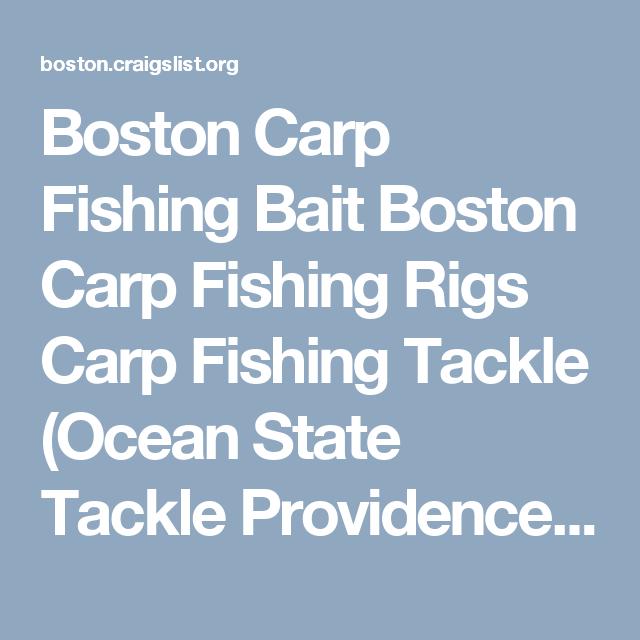 Boston Carp Fishing Bait Boston Carp Fishing Rigs Carp