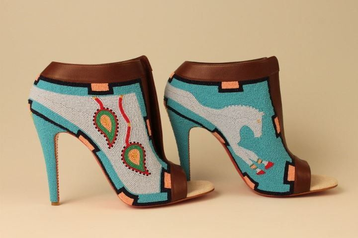 LOVE these hand beaded Louboutins! Made by artist Jamie Okuma.