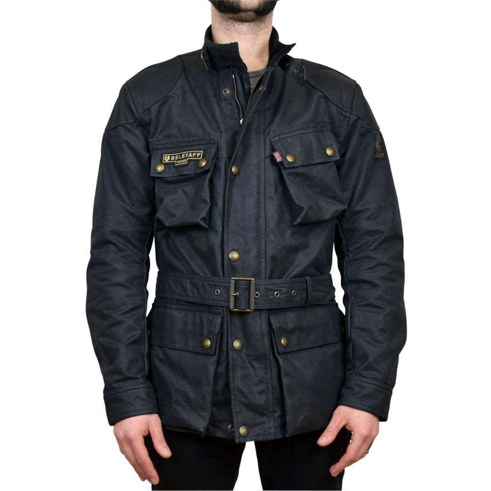 Belstaff Trialmaster Pro 48 Wax Jacket Black In 2020