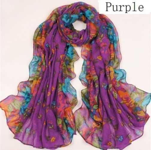 Women\'s cotton blend purple scarf with flowers. Starting at $1 Women's #cotton blend #purple #scarf with #flowers #CristinasBoutique #accessories  http://tophatter.com/lots/12083677?ref=1588603&campaign=twitter-share