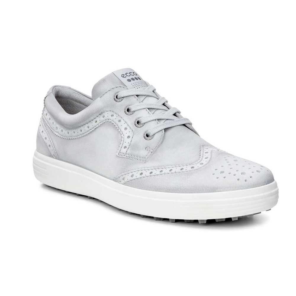 Ecco Men S Casual Hybrid Ii Retro Golf Shoes Concrete