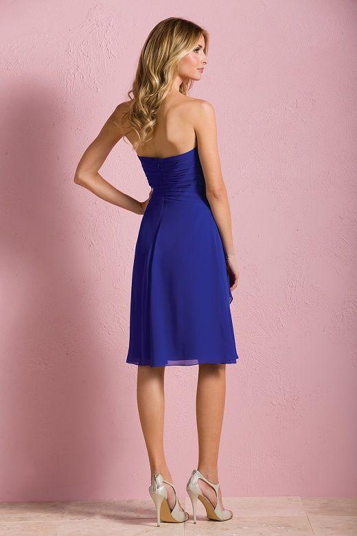 Aliexpress.com: Comprar Novia longitud de la rodilla del Azul real ...