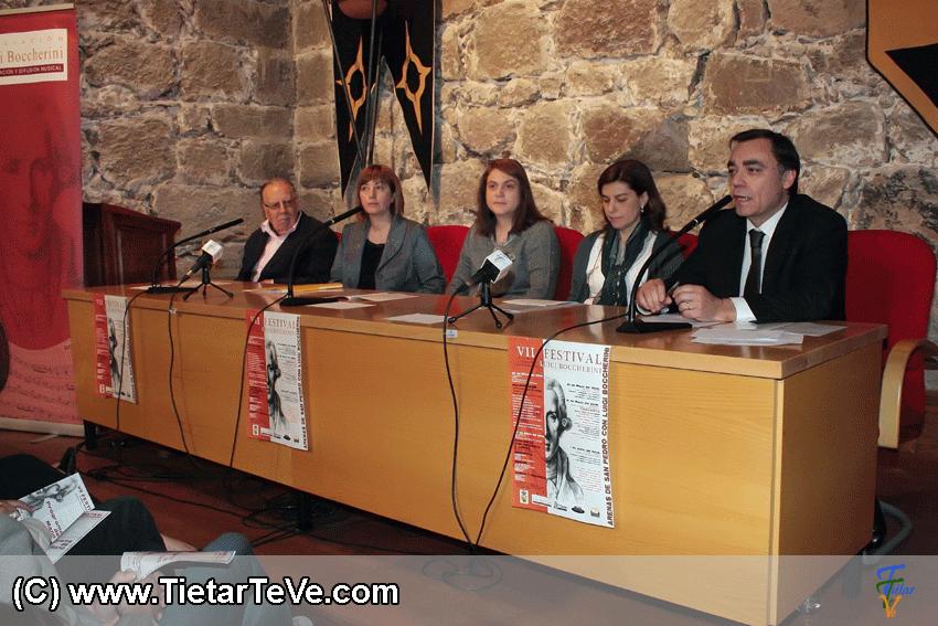 Presentación del VII Festival Luigi Boccherini de Arenas de San Pedro de Mayo de 2014.
