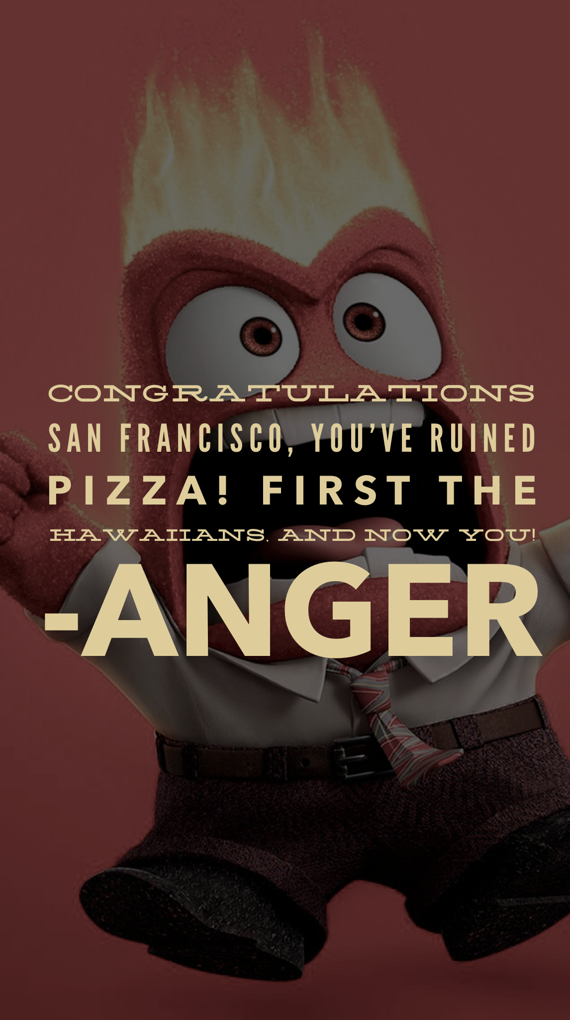 Disney Character Quote Anger Inside Out