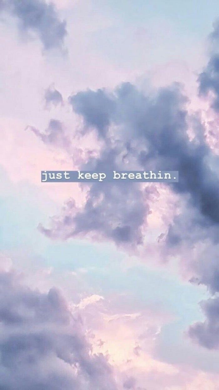 just keep breathin, cute iphone backgrounds, purple sky