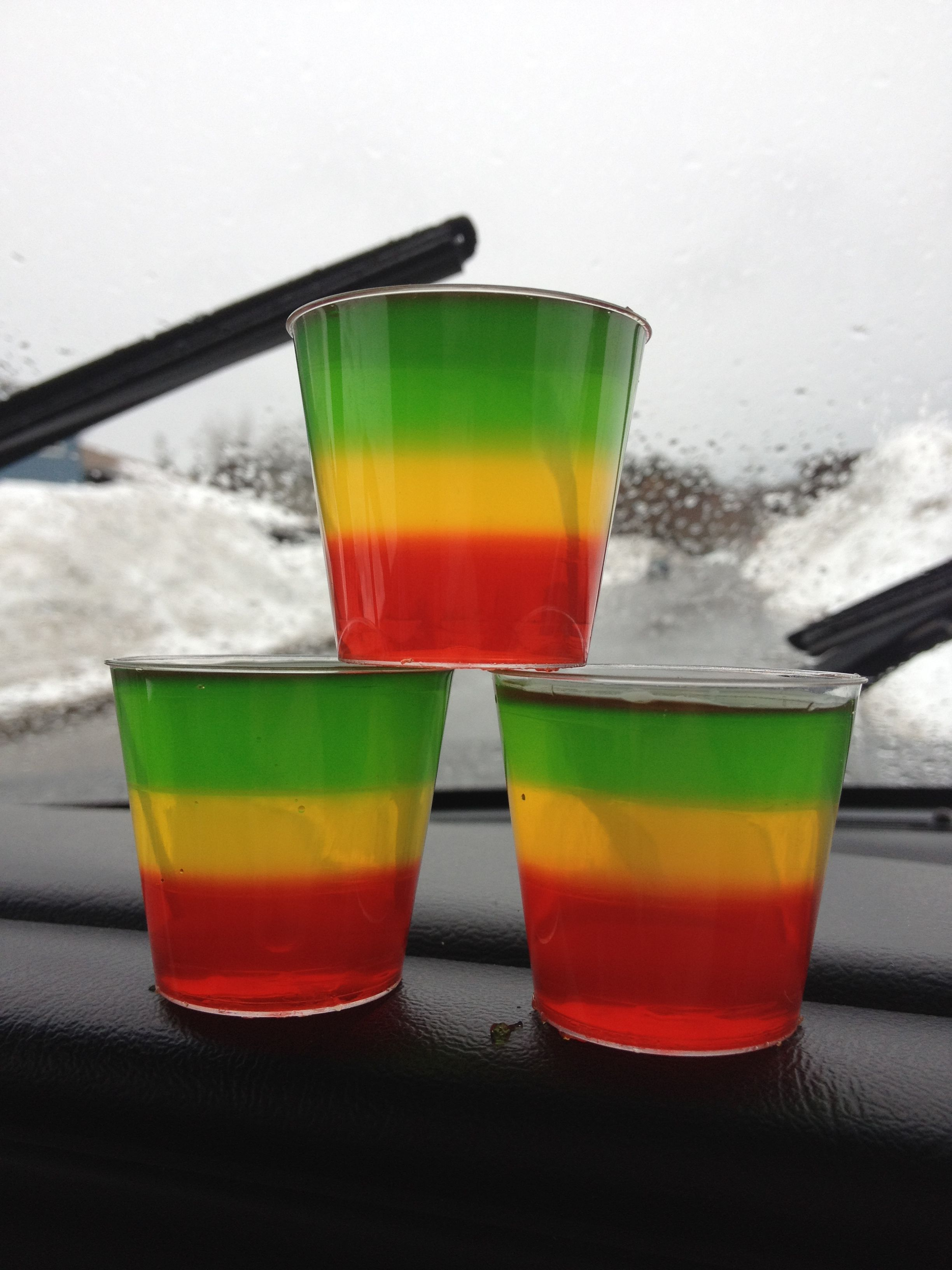 Bob Marley inspired jello shots..hell yeah   food & drinks ...