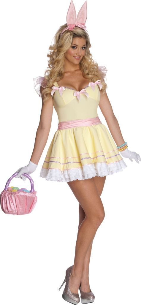 Adult Eggs-Tra Cute Easter Bunny Costume - Party City -1530