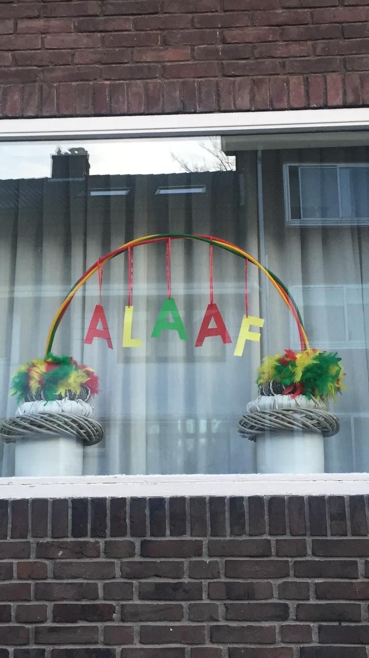 Raamdecoratie carnaval alaaf