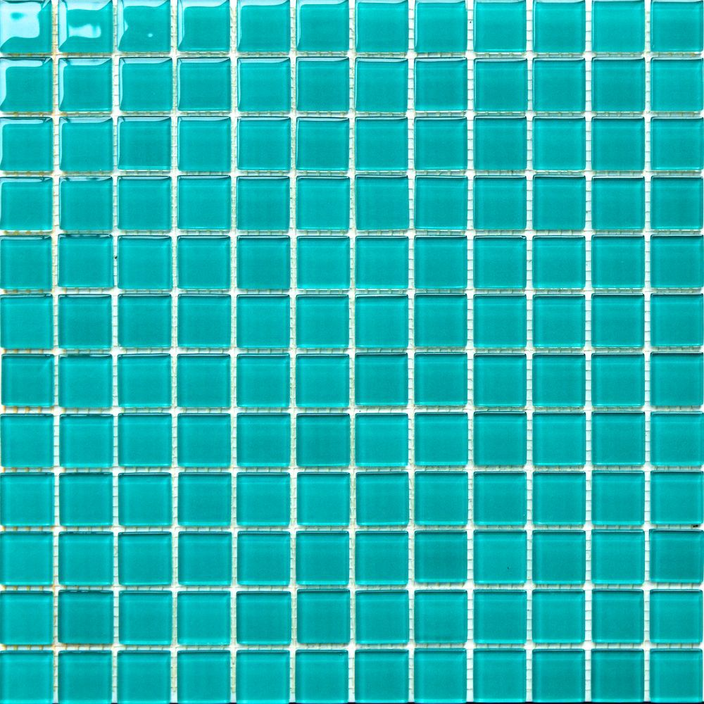 1x1 Turquoise Green Pool Glass Mosaic Tile Ebay Glass Mosaic