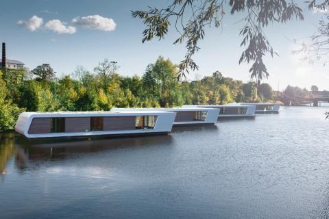 hausboote floating homes in hamburg suchen bewohner maison flottante p niches et urbain. Black Bedroom Furniture Sets. Home Design Ideas