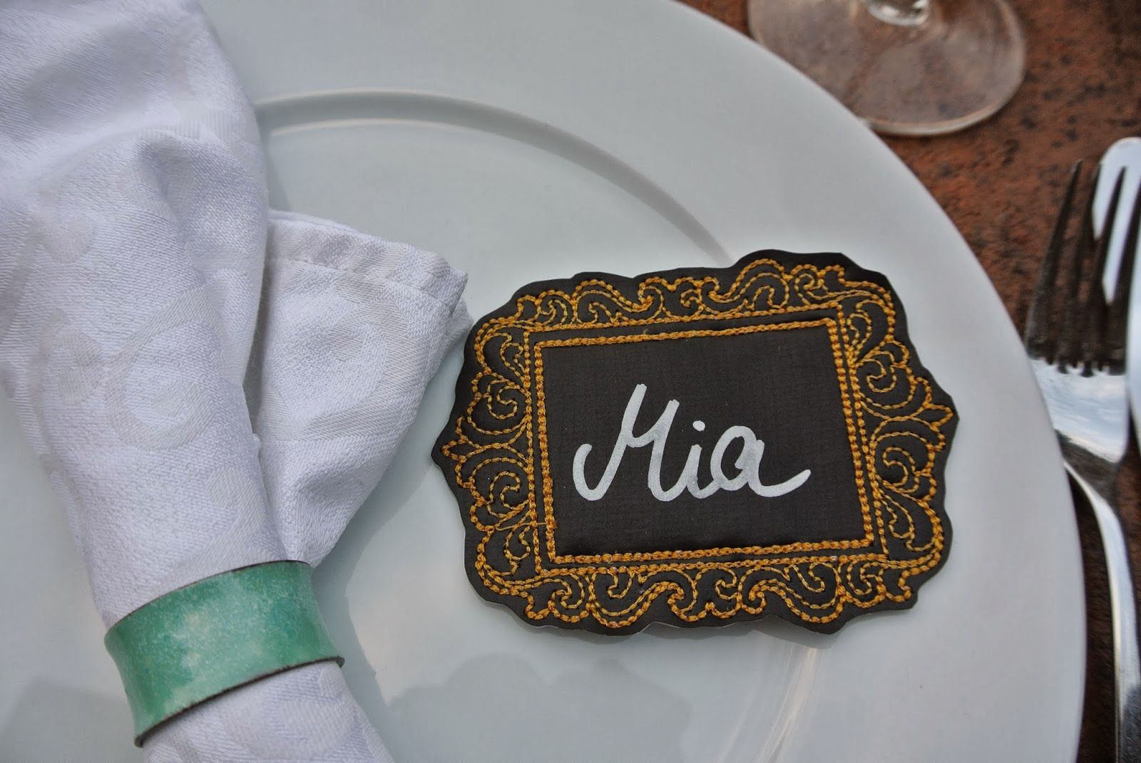 chalk cloth place card