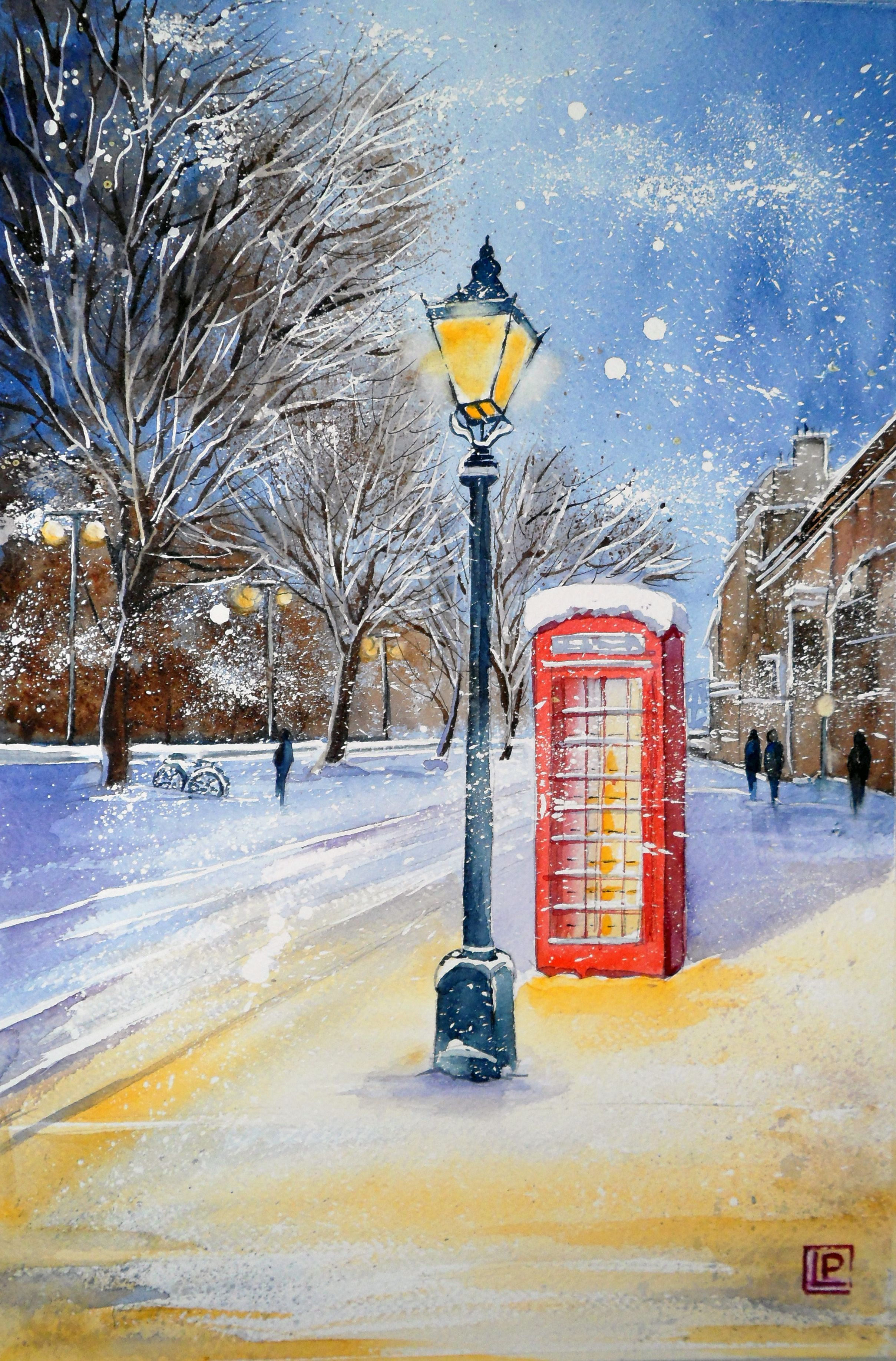 """London "" acquerello di Lorenza Pasquali Paintings 35x51 www.lorenzapasquali.it  Copyright © Lorenza Pasquali"