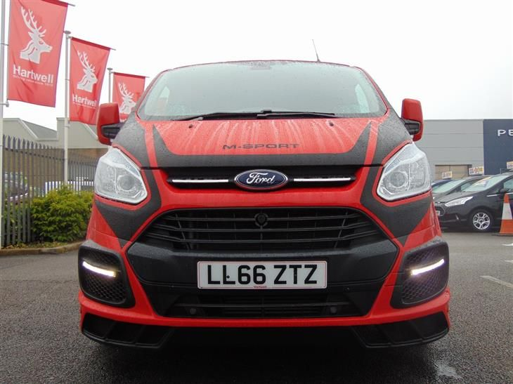 Used 2016 Ford Transit Custom 290 L2 M Sport Double Cab 2 2 Tdci 155ps In Race Red With 6 Seats And Black Alloys For Sale In Ford Transit Transit Custom Ford