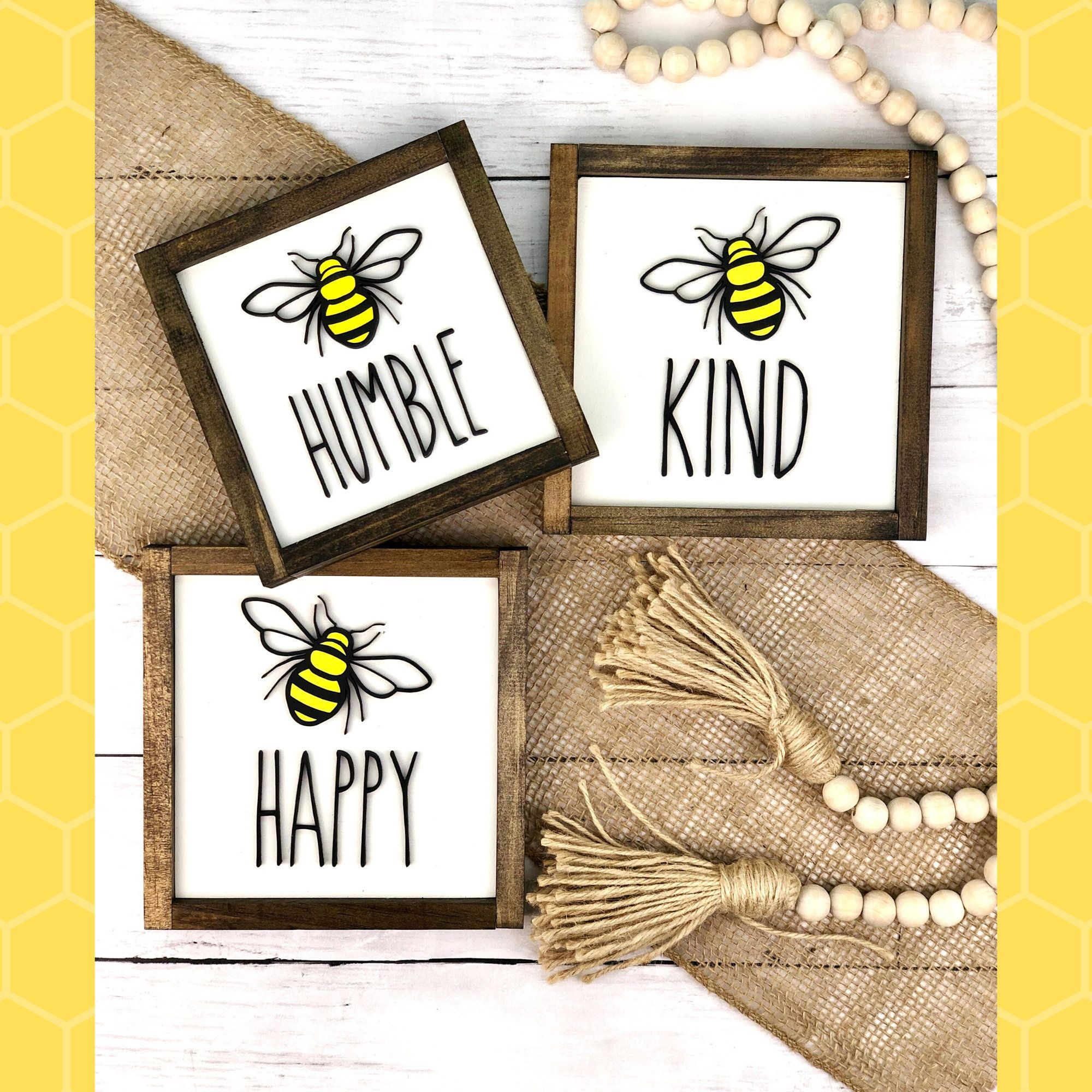 Bee Kind Bee Decor Summer Decor Bee Sign Bee Happy Bee Etsy Bee Decor Honey Bee Decor Bee Sign