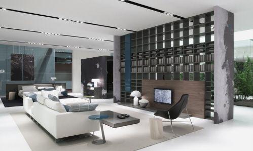 Awesome Modern Italian Furniture White Minimalist Sofa Design