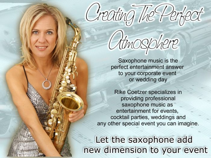 Rike Coetzer Female Sax Player For Weddings Banquets Golfdays Corporate Events Party Saxophonist