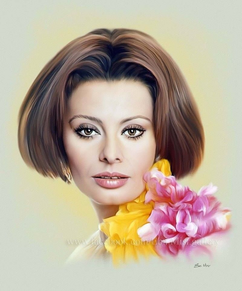 Sophia loren mixed media manual digital drawing by for Diva sofia streaming