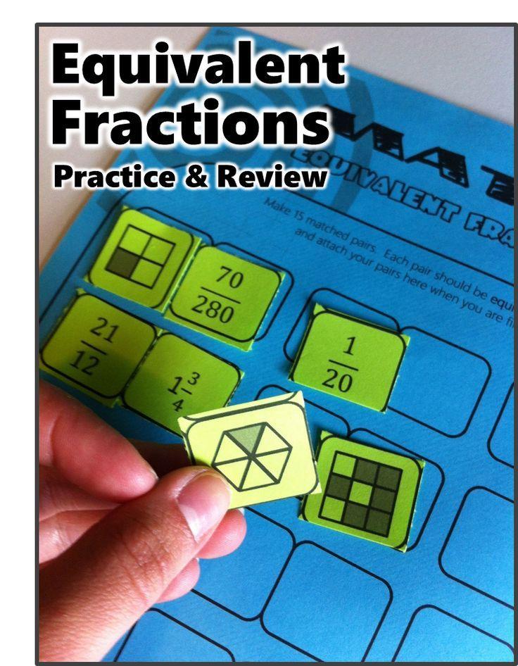 MATCH - Equivalent Fractions Puzzle | Pinterest | Equivalent ...