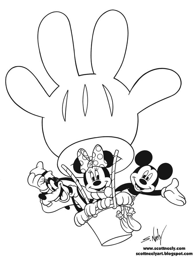 Mickey Mouse Clubhouse Coloring Page | Clip art - Mickey | Pinterest ...