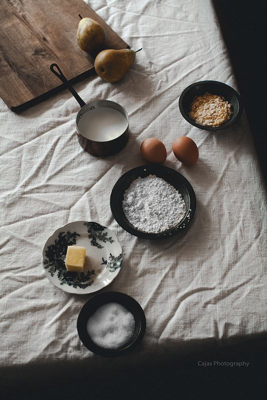 Pear and Almond Clafoutis for Kinfolk Table