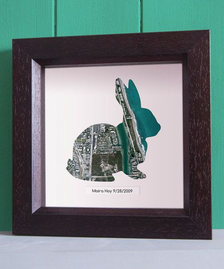 Map Marketing Dark Whale Rabbit Personalized Framed Print   zulily