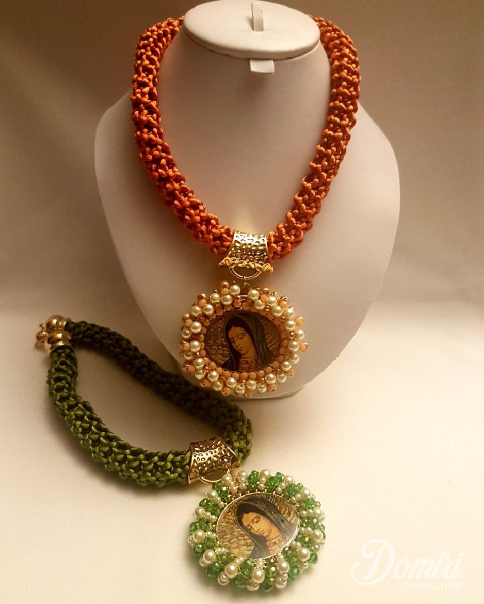 45e92213f691 Collar medallón Virgen de Guadalupe. Cordón
