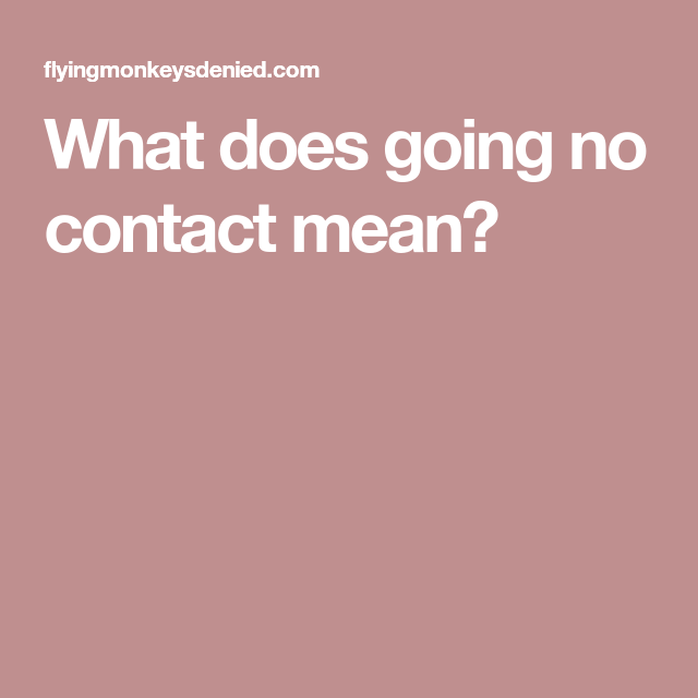 Other To Do Contact A No Narcissist What Does are two