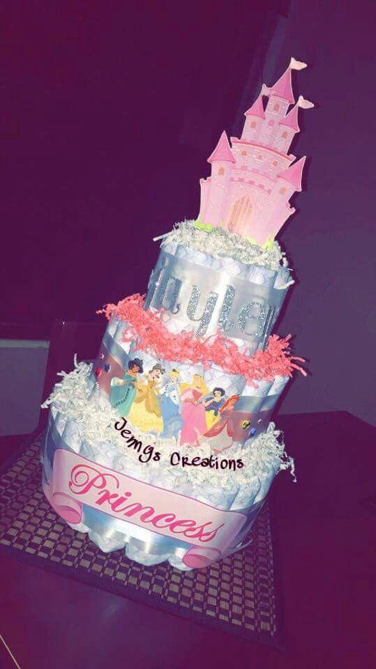 City Of Lakeland  Baby Shower Princess, Princess Diaper Cakes, Disney -1677