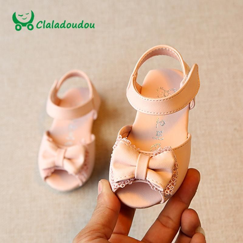 0ca1422a7b16e Claladoudou Baby Sandals Girls Pink Lace Cute Shoes Kids Girl White ...