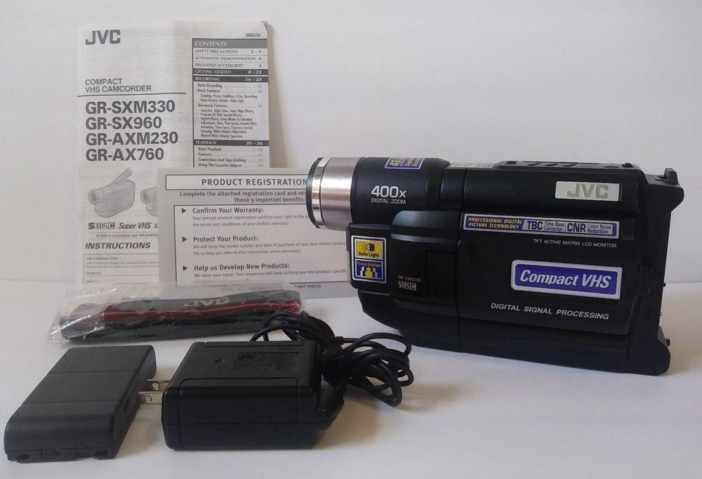 Jvc Gr Axm230 Gr Axm230u Vhs Vhsc Vhs C Camcorder Vcr Player Video Transfer Jvc Camcorder Video Transfer Digital Signal Processing