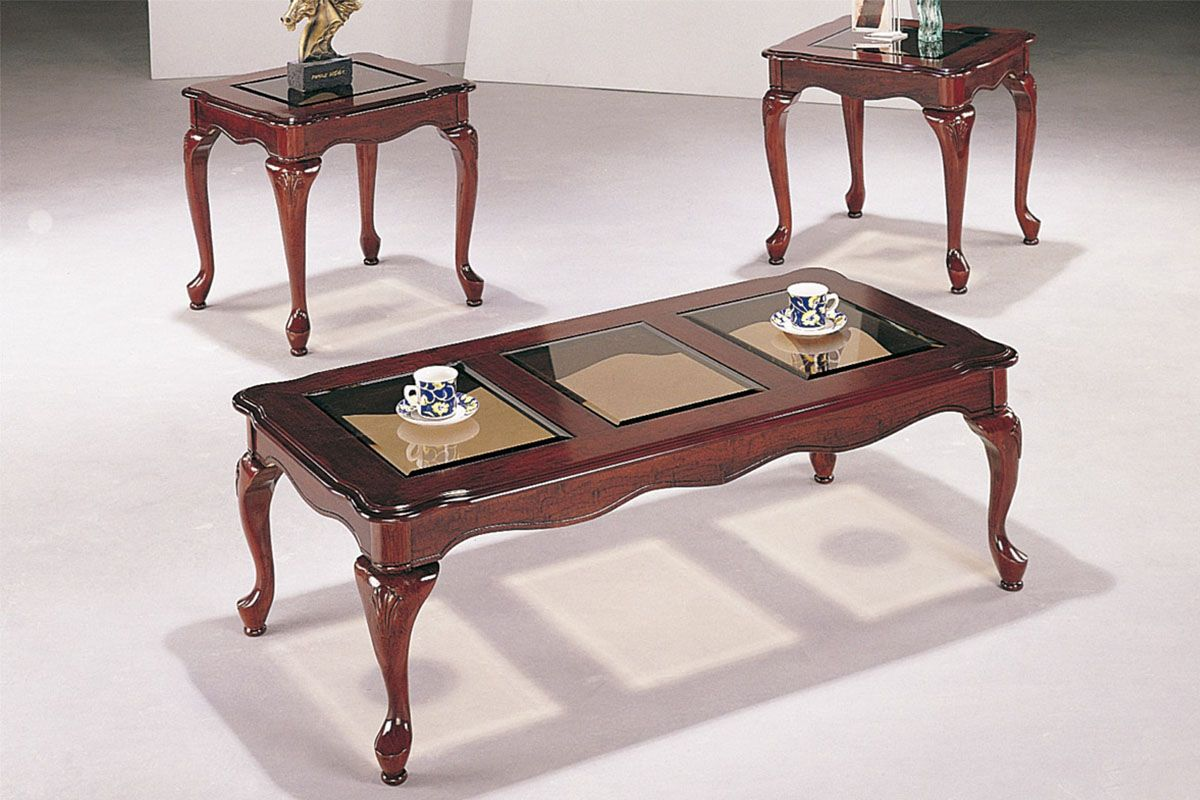 3 piece antique cherry coffee table set huntington beach