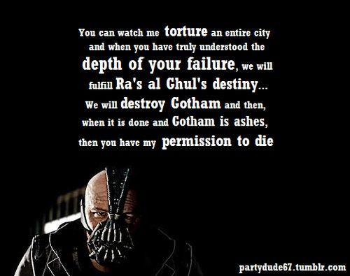 Top 22 Bane Quotes Bane Quotes Batman Quotes Bane