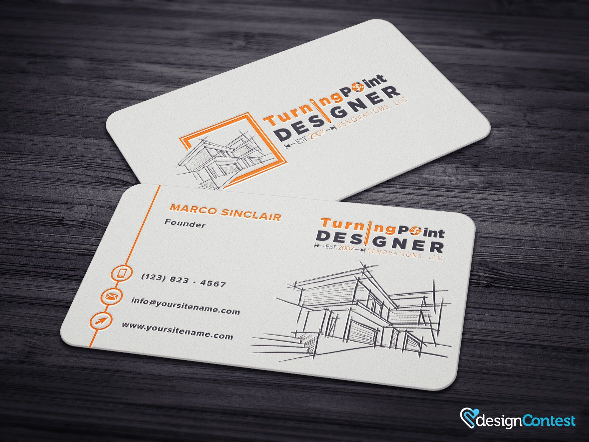 Business Card Design With DesignContest22 Copy