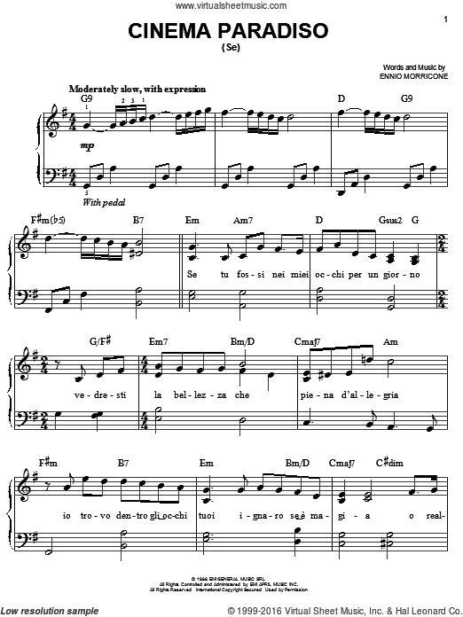Cinema Paradiso Partituras Piano Solo Gratis Partituras Para Piano Sencillas Partituras Partituras Cello