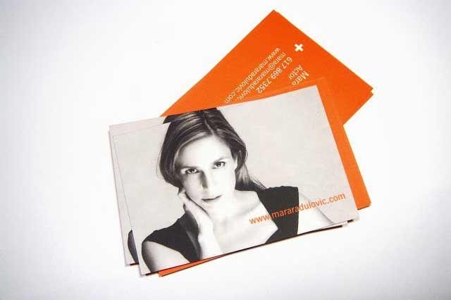 Stylish actor business card template created by mario vila design stylish actor business card template created by mario vila design for mara radulovic an actor colourmoves Choice Image