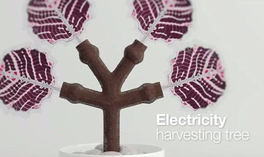 3D Printed Solar Power Tree VTT Thin Solar