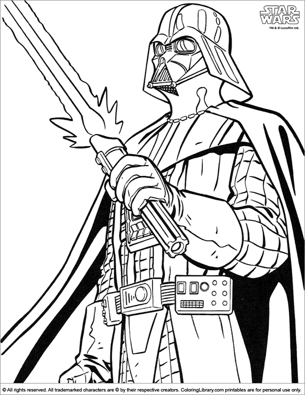 Star Wars coloring picture | Coloring pages | Pinterest ...