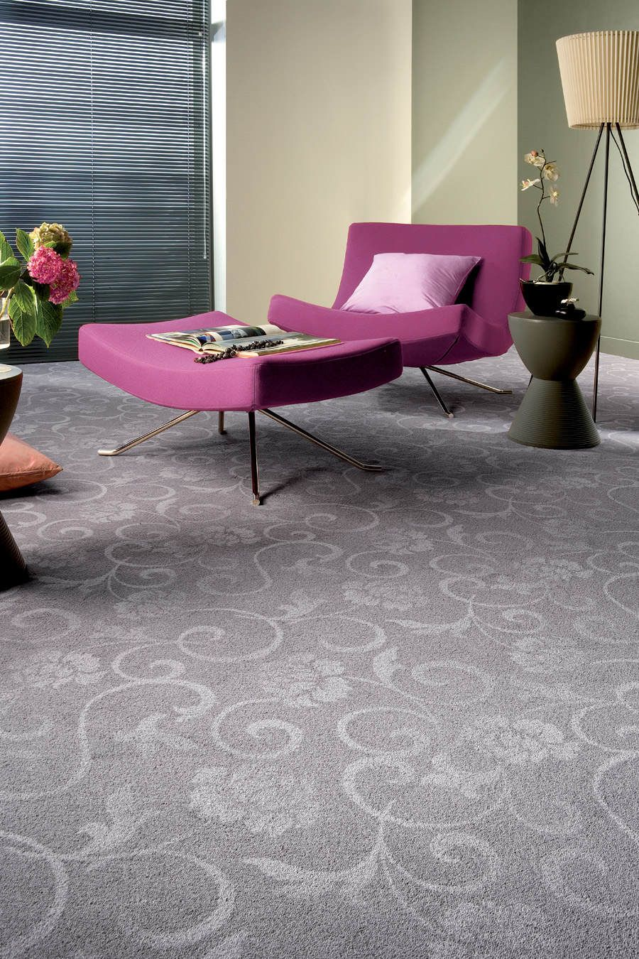 Great Cool Carpet Ideas: Grey Carpet Violet Contemporary Ideas ~ Home Inspiration