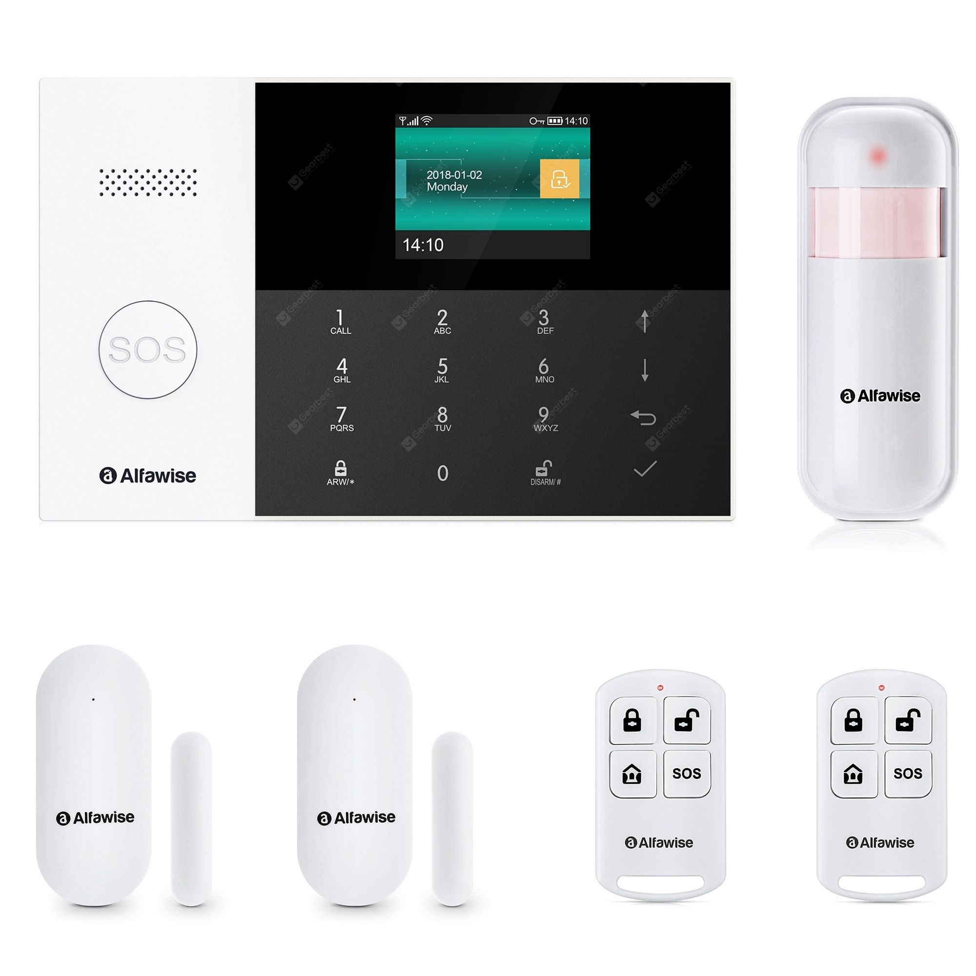 Alfawise Pg 105 Gsm Wifi 433mhz Wireless Smart Home Security