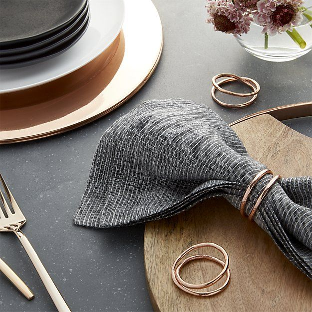 Aria Copper Napkin Ring + Reviews | Crate and Barrel