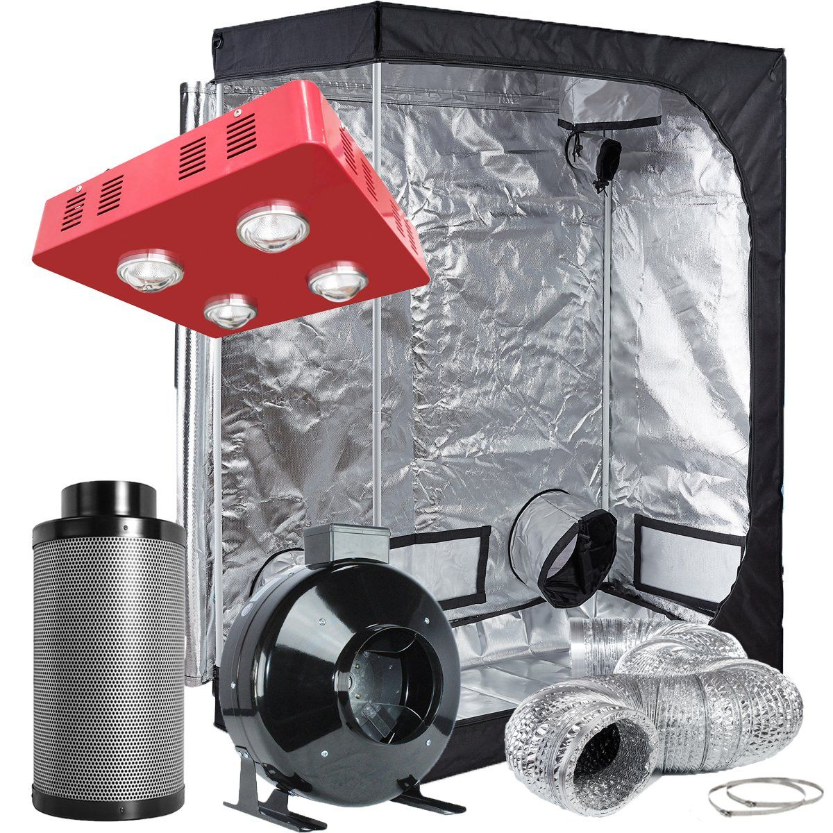 Topolite Grow Tent Complete Kit Hydroponic Growing System 640 x 480