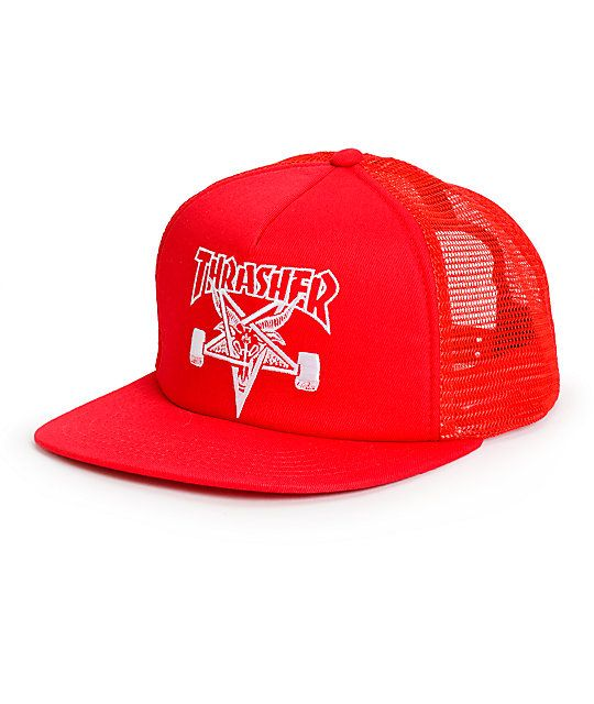 9c2545b5c45 Thrasher Skategoat Red Trucker Hat