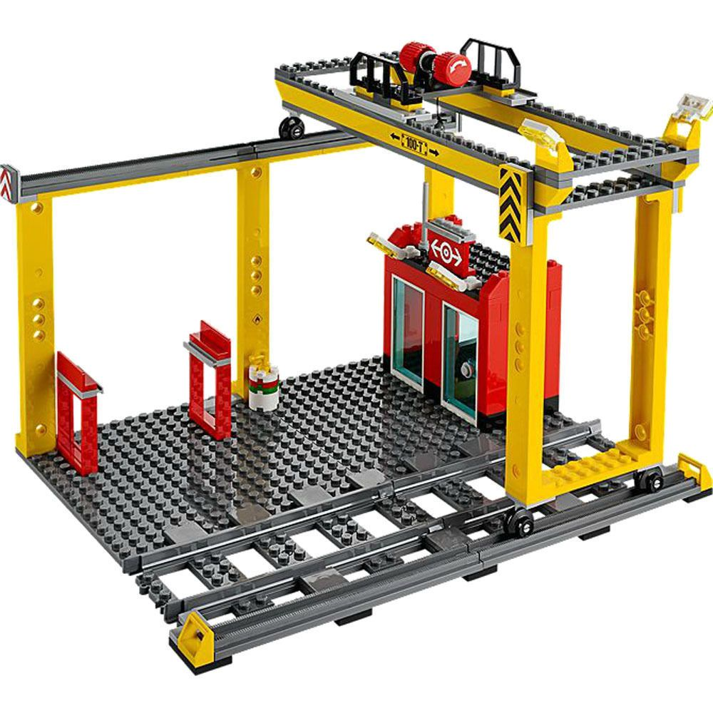 LEGO City LOADING STATION with Track from 60052 - Train Freight Overhead Crane #LEGO