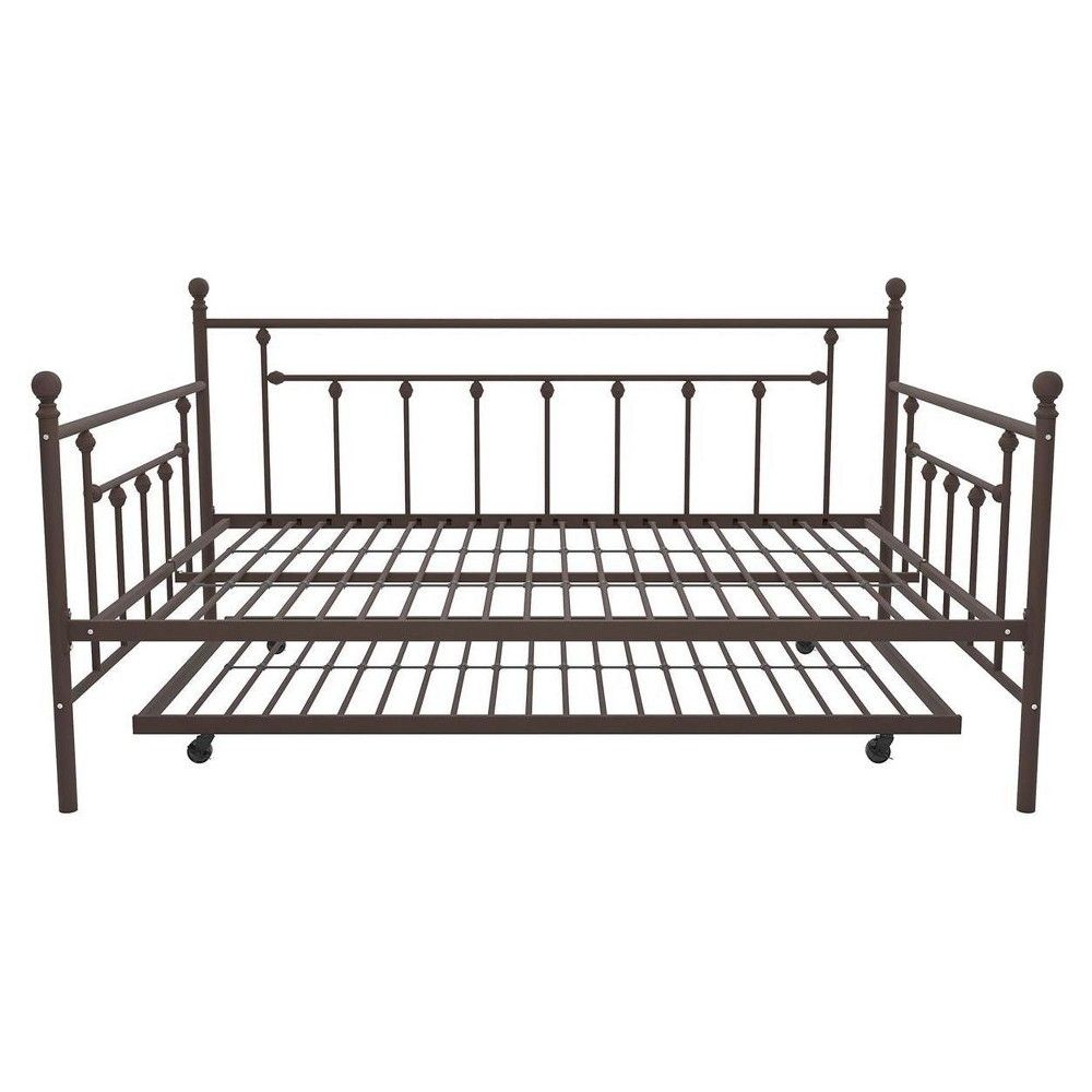 Milan Metal Bed Queen Bronze Room Joy Metal Daybed Metal Daybed With Trundle Full Size Daybed