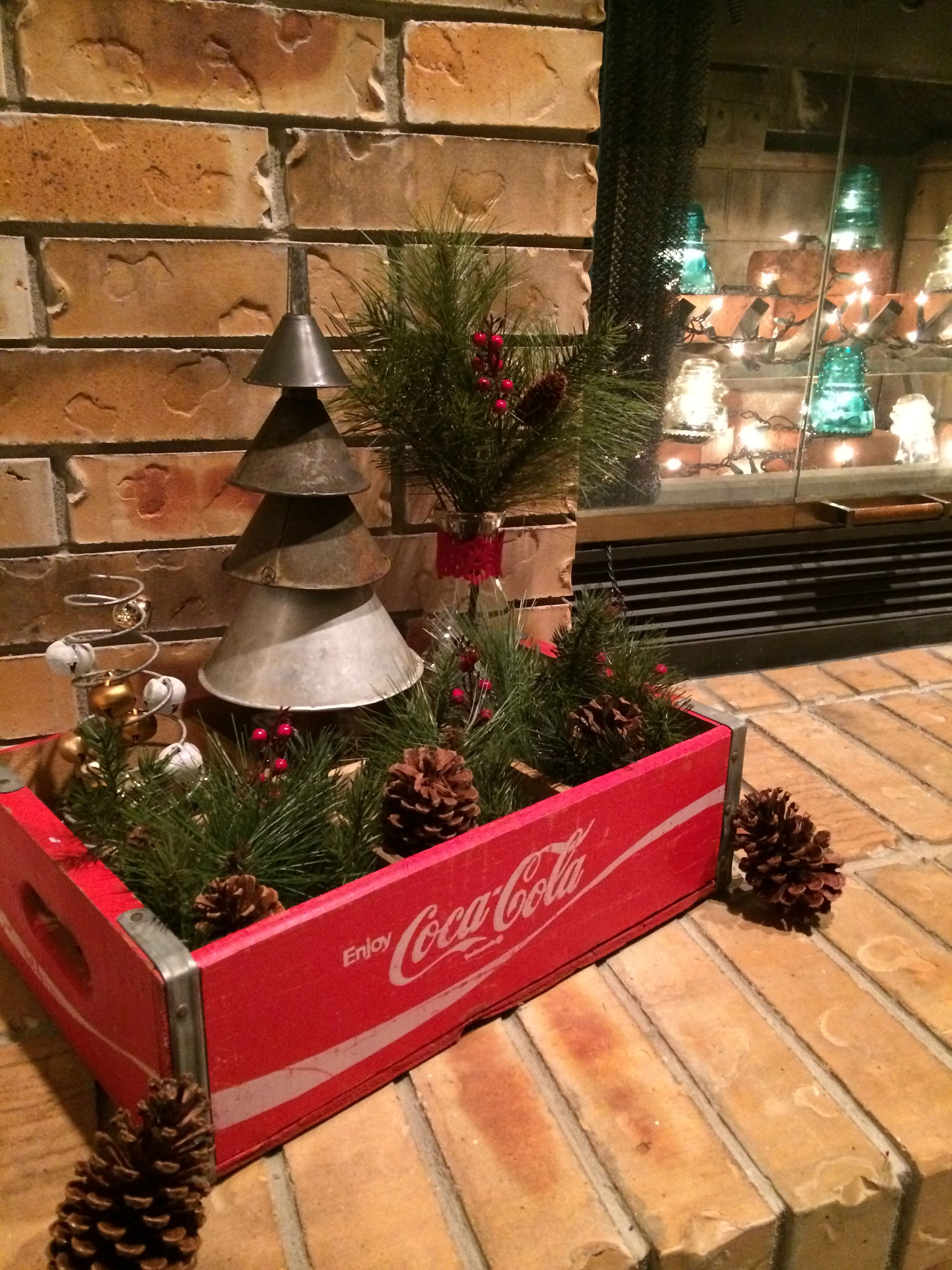 My Old Funnel Christmas Tree Will Be Complete As Soon As I Find The Perfect Start But Christmas Table Centerpieces Christmas Centerpieces Christmas Decor Diy