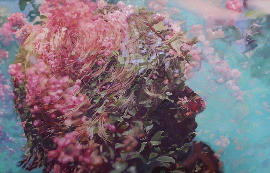 Doble exposición en óleo por Pakayla Biehn ⋮ Pixelismo