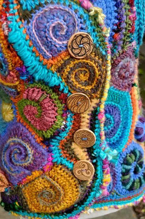 Oh the colours! | Crochet | Pinterest | Ganchillo, Tejido y Labores